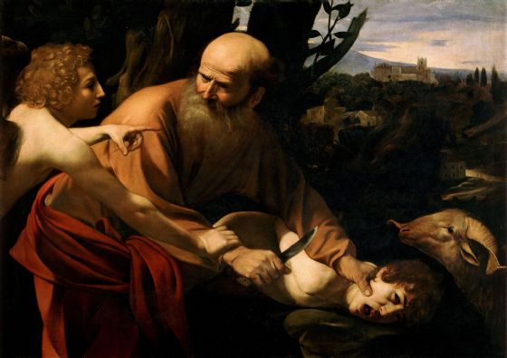 Caravaggio, Michelangelo Merisi da: The Sacrifice of Isaac. Fine Art Print/Poster. Sizes: A4/A3/A2/A1 (001482)